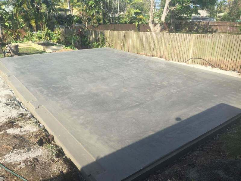 Shed Slab with Cast in Vermin Proofing